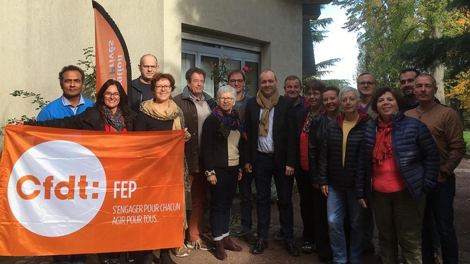Laurent Berger avec l'équipe CFDT AAuteuil à Sannois 2019